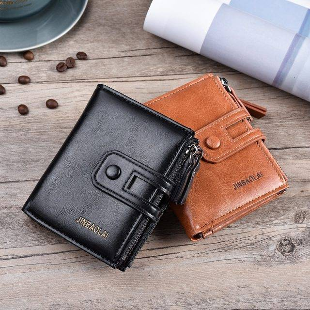 Men's Wallet with Double Zipper