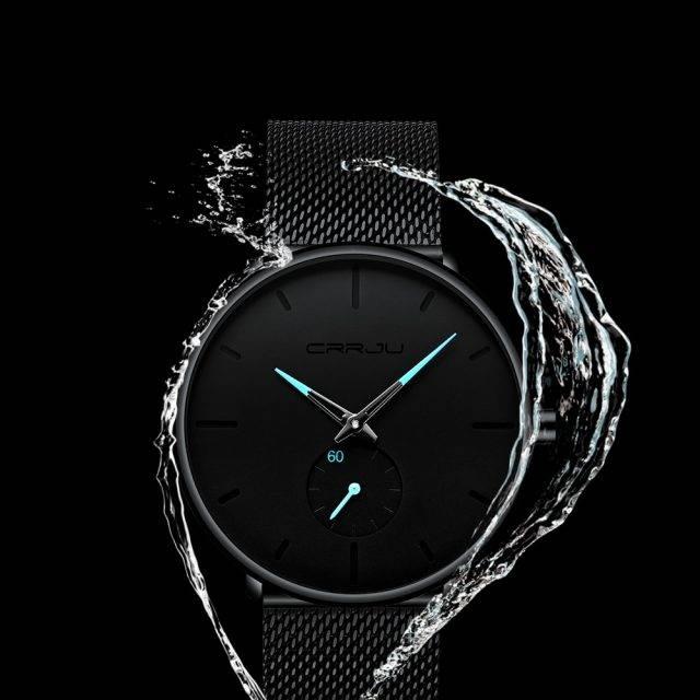 Men's Classic Style Black Steel Watch