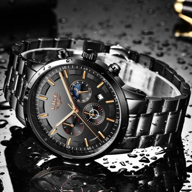 Business Styled Quartz Watches for Men with Stainless Steel Strap
