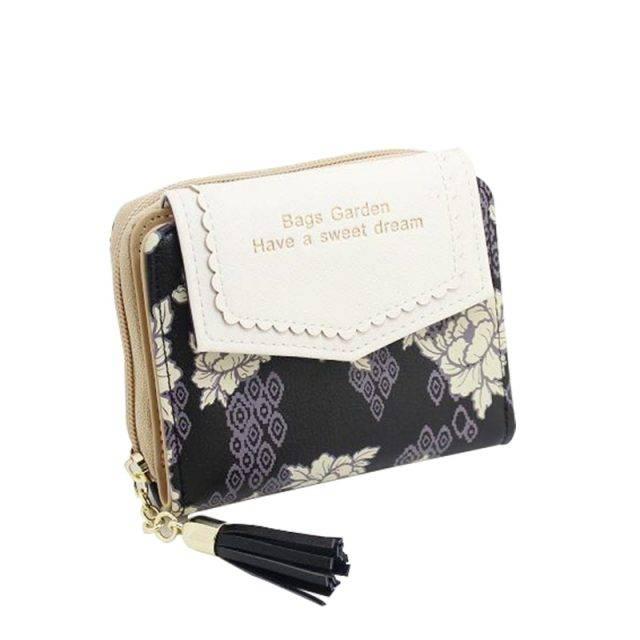 Cute Vintage Floral Leather Women's Wallet