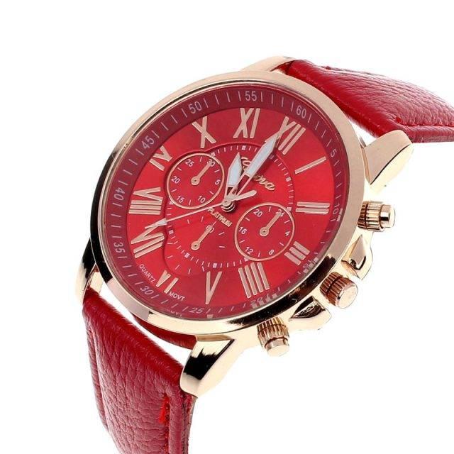 Women's Leather Bracelet Watch