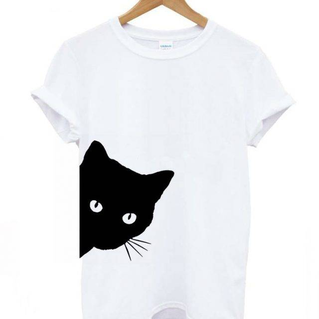 Women's Cat Printed T-Shirt