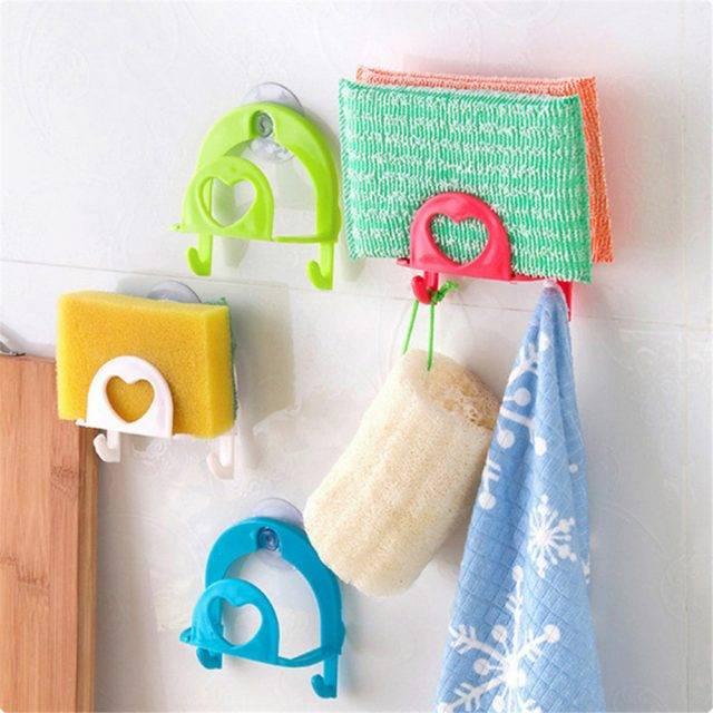 Convenient Suction Cup Mounted Eco-Friendly Plastic Sponge Holder