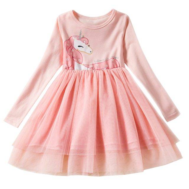 Party Cotton Dress for Girls