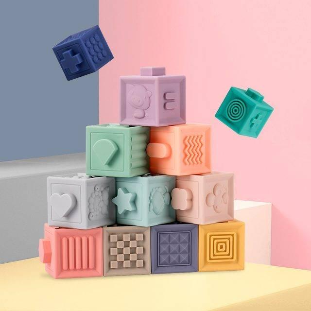 Soft Musical Squishy 3D Building Blocks