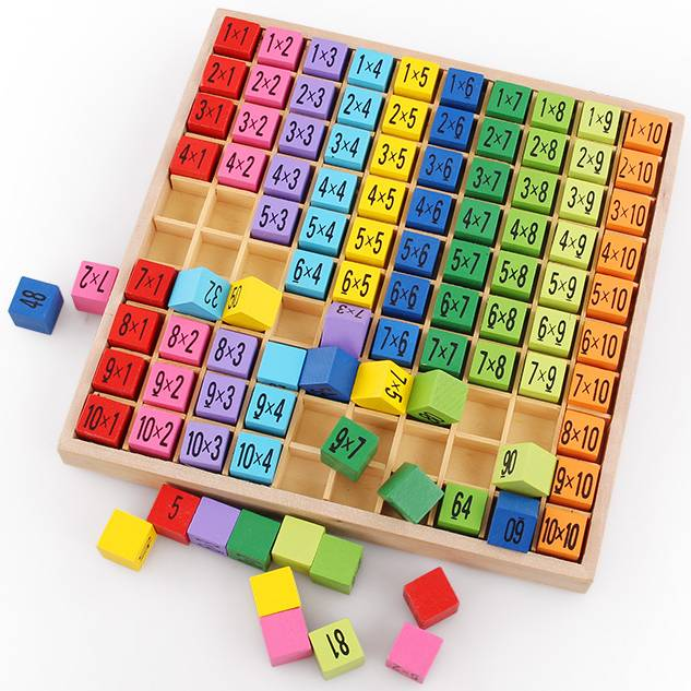 Wooden Arithmetic Table for Children