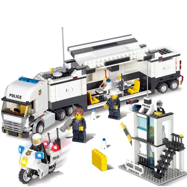 DIY Building Blocks Police Station