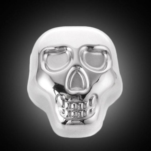 Skull Shaped Stainless Steel Ice Cubes