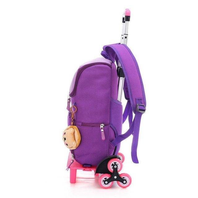 Kid's Trolley Luggage Backpack with 2/6 Wheels