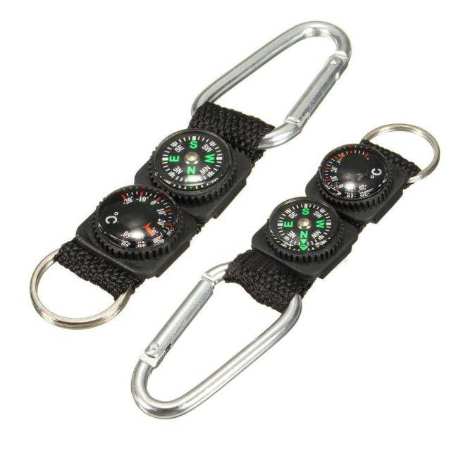 Mini Survival Buckle with Compass and Thermometer