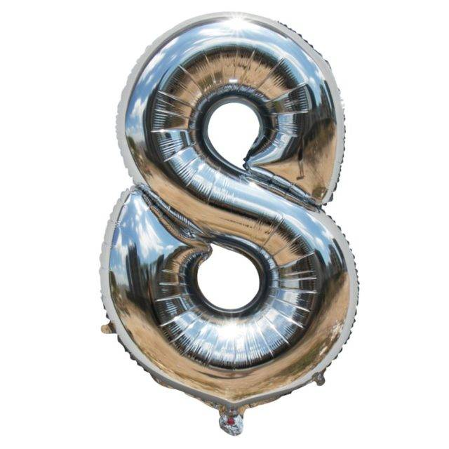 Large Number Shaped Foil Balloons For Kid's Party Decor