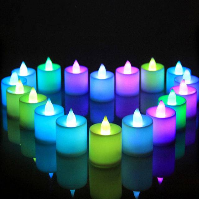 Lovely Candle Shaped Multicolor Party LED Light