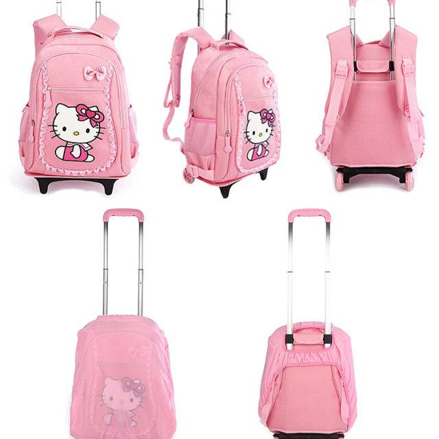 Cat Printed Kid's Carry Ons
