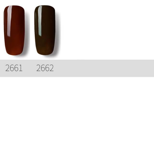 Gel Nail Polish Coffee Color Series