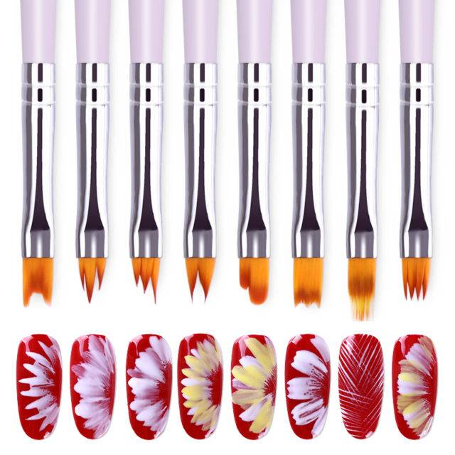 Gradient Acrylic Painting Nail Brushes