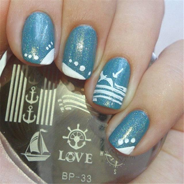 Deep Sea Nail Art Template