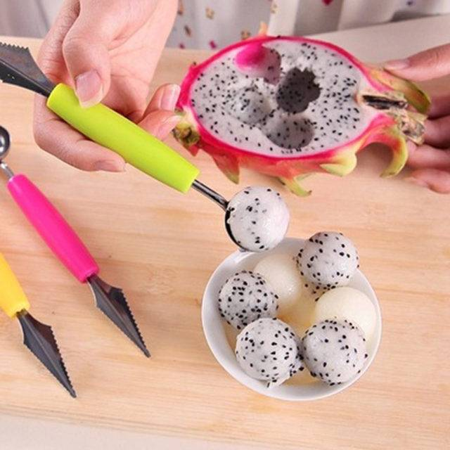 Double Sided Soft Fruits Spoon