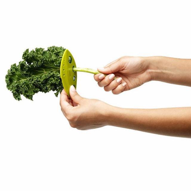 Convenient Manual Leaf Shaped Plastic Herbs Stripper