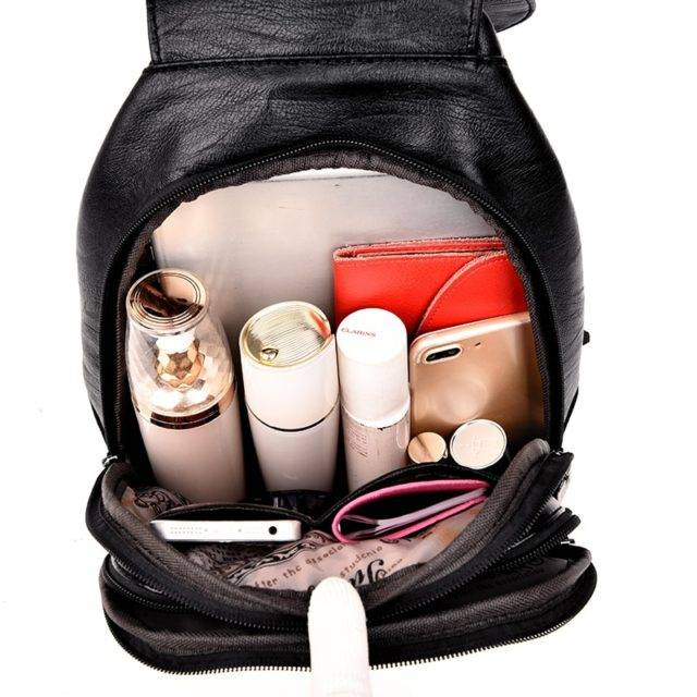 Women's Leather Fashion Backpack