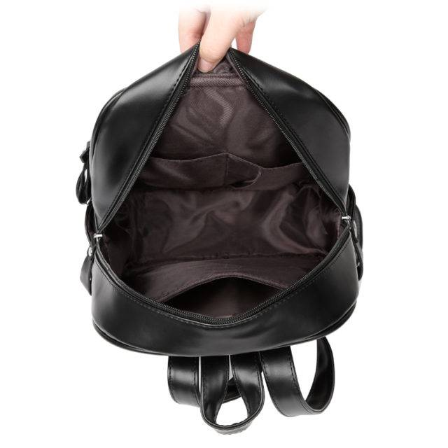 Fashion Geometrically Patterned Leather Women's Backpack
