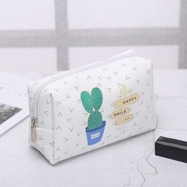 Cute Leather Cosmetic Bag