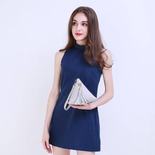 Women's Pyramid Wristlet with Tassel