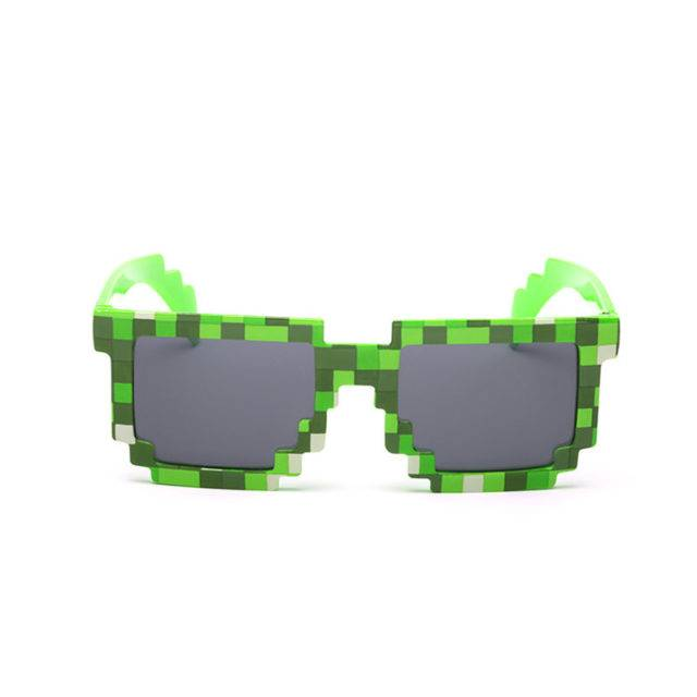 Fashion Kid`s Minecraft Style Sunglasses with Case