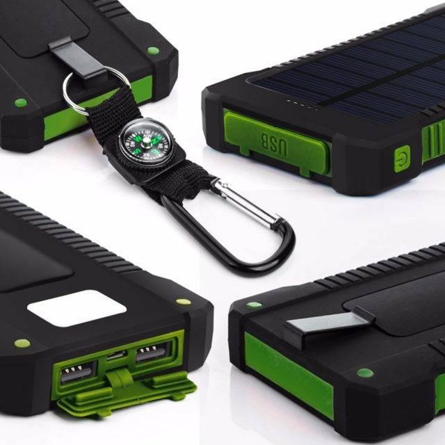 Portable 20000 mAh Solar Power Bank 5 pcs Set