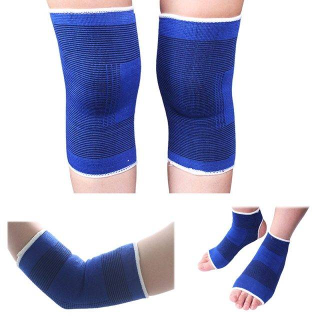 Protective Elastic Elbow and Knee Pads 2 pcs/Set