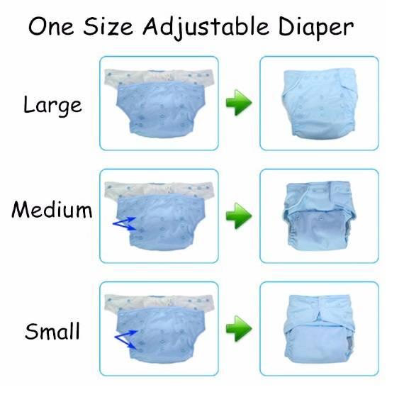 Baby's Reusable Waterproof Soft Diapers
