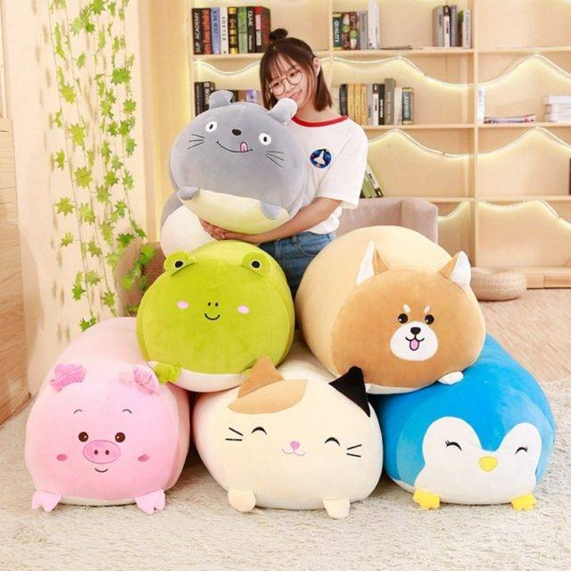 Soft Cartoon Animal Shaped Pillow