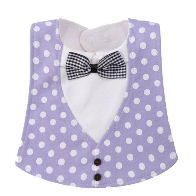 Bowtie Printed Bibs for Kids