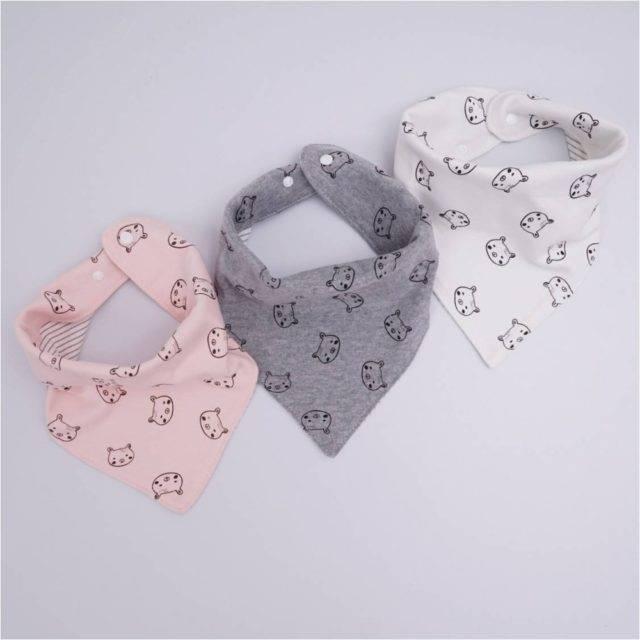 Baby's Cotton Geometric Print Bibs