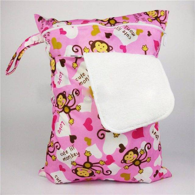 Double Zippered Polyester Diaper Bag