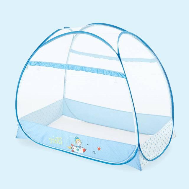Larger Space Double Door Crib Netting