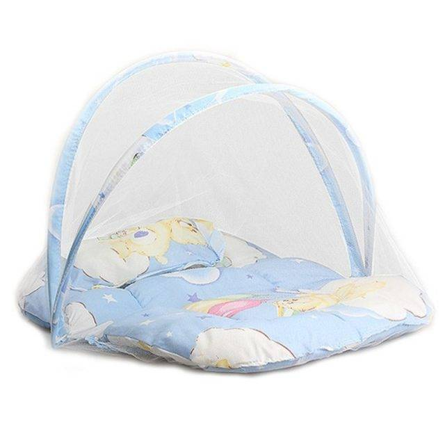 Cute Comfortable Portable Foldable Baby Crib with Mosquito Net