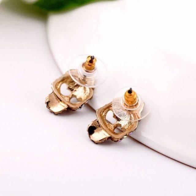 Women's Romantic Skull Stud Earrings